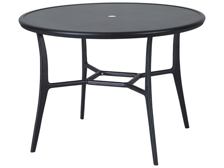 Gensun Fusion 48''Wide Round with Aluminum Top Counter Table with Umbrella Hole