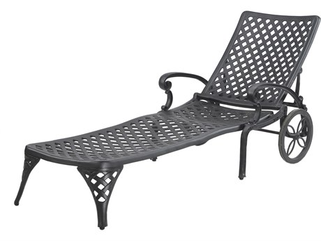 GenSun Columbia Cast Aluminum Chaise Lounge - Knock Down