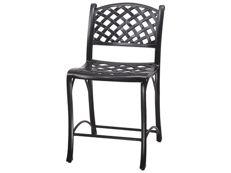 GenSun Columbia Cast Aluminum Stationary Balcony Stool without Arms - Welded