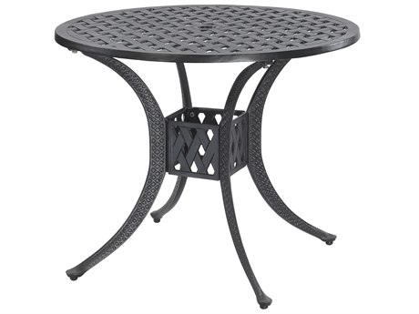 GenSun Coordinate Cast Aluminum 32 Round Dining Table with Umbrella Hole