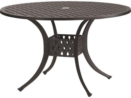 GenSun Coordinate Cast Aluminum 42 Round Dining Table with Umbrella Hole