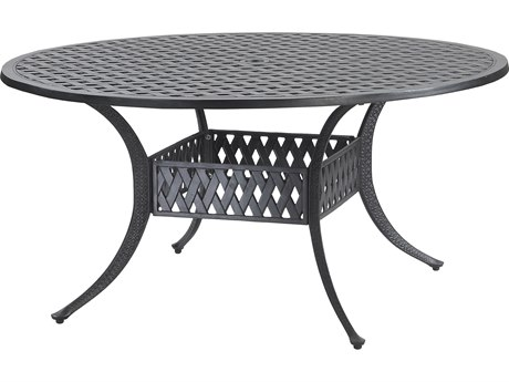 GenSun Coordinate Cast Aluminum 54 Round Dining Table with Umbrella Hole