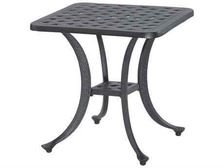 GenSun Coordinate Cast Aluminum 21 Square End Table End Table