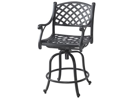 GenSun Columbia Cast Aluminum Swivel Balcony Stool - Welded