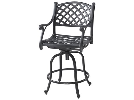 GenSun Columbia Cast Aluminum Swivel Bar Stool - Welded