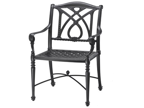 GenSun Grand Terrace Cast Aluminum Cushion Dining Chair