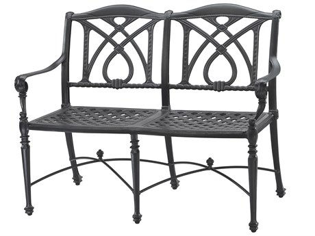 Gensun Grand Terrace Cast Aluminum Cushion Bench