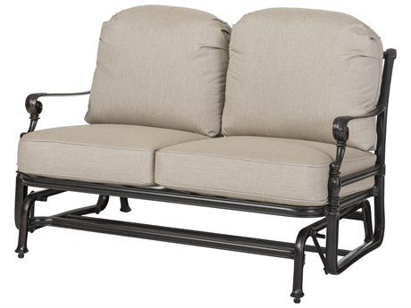 GenSun Grand Terrace Cast Aluminum Cushion Loveseat Glider