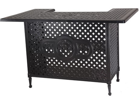 GenSun Grand Terrace Accessories Cast Aluminum 65 x 41 Rectangular Bar Table