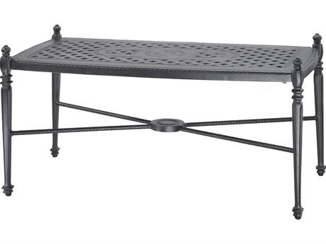 Gensun Grand Terrace Cast Aluminum 42 x 21 Rectangular Coffee Table