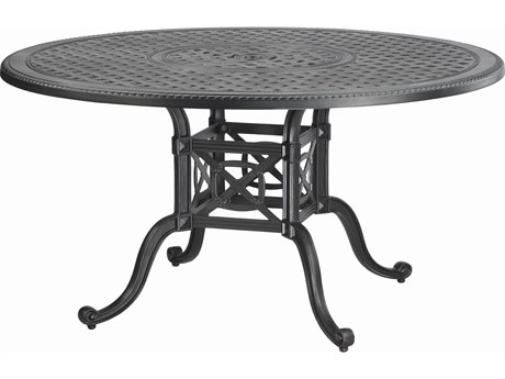 Gensun Grand Terrace Cast Aluminum 54 Round Dining Table with Umbrella Hole