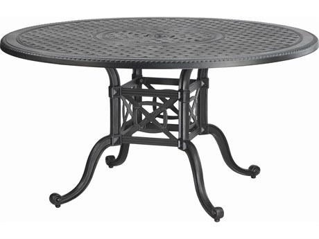 GenSun Grand Terrace Cast Aluminum 54 Round Dining Table with Umbrella Hole