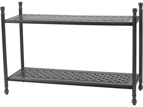 Gensun Grand Terrace Accessories Cast Aluminum 47.5 x 17 Rectangular Console Table GES10340CT1
