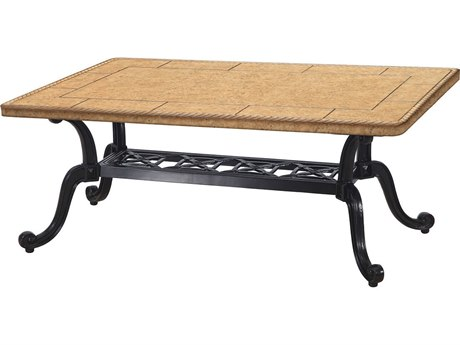 GenSun Grand Terrace Cast Aluminum 44 x 24 Rectangular Coffee Table Base