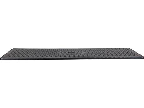 GenSun Grand Terrace Table Cast Aluminum 86 x 42 Rectangular Table Top with Umbrella Hole