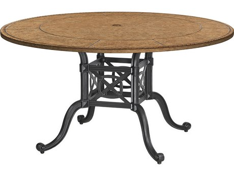 GenSun Grand Terrace Cast Aluminum 54 Round Dining Table Base