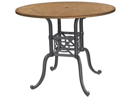 GenSun Grand Terrace Cast Aluminum 48 Round Bar Table Base