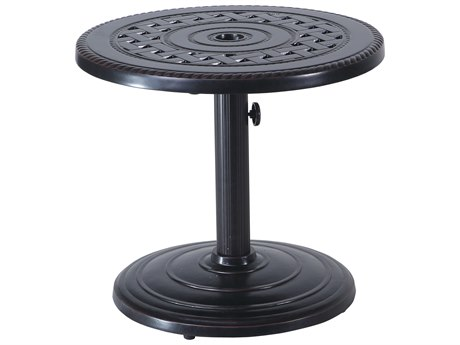 Gensun Grand Terrace Cast Aluminum 24 Round Umbrella End Table