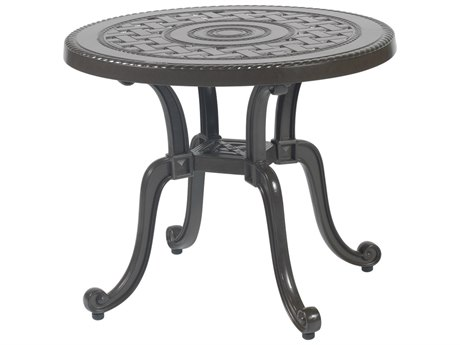 Gensun Grand Terrace Cast Aluminum 26 Round End Table