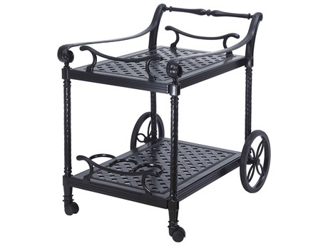 Gensun Grand Terrace Accessories Cast Aluminum Serving Cart - Welded