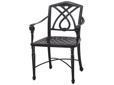 GenSun Terrace Cast Aluminum Cushion Cafe Chair With Arms - Knock Down