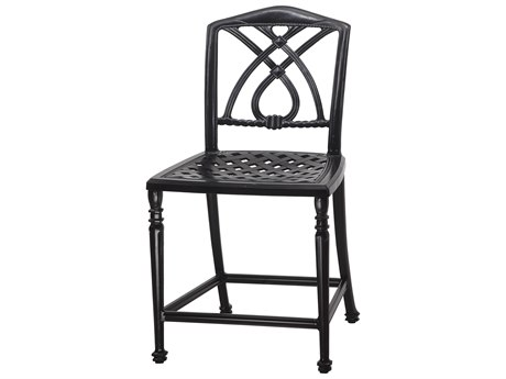 GenSun Terrace Cast Aluminum Cushion Stationary Balcony Stool without Arms - Welded