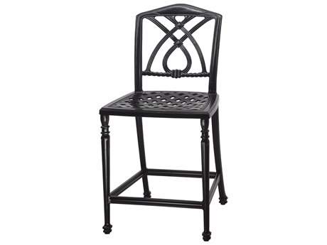 Gensun Terrace Cast Aluminum Cushion Stationary Bar Stool without Arms - Welded