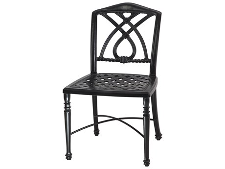 GenSun Terrace Cast Aluminum Cushion Cafe Chair without Arms - Welded