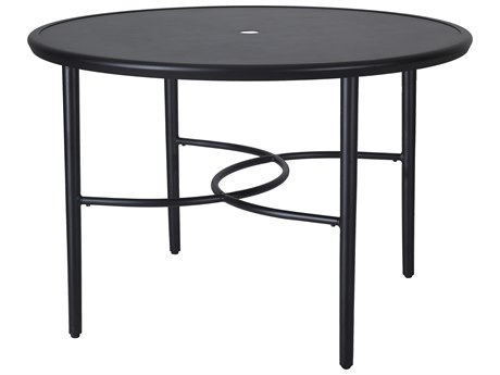 Gensun Talia 48'Wide Round with Aluminum Top Dining Table with Umbrella Hole
