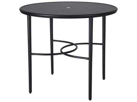Gensun Talia 48''Wide Round with Aluminum Top Bar Table with Umbrella Hole