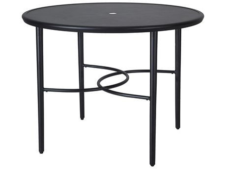 Gensun Talia 48''Wide Round with Aluminum Top Counter Table with Umbrella Hole