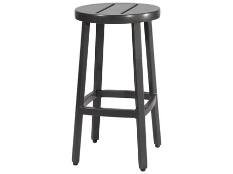 Gensun Plank Aluminum Metal Bar Stool