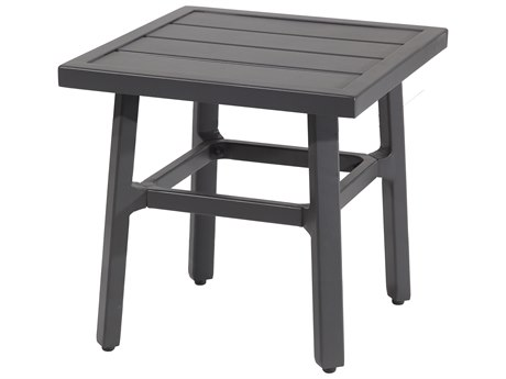 Gensun Plank Tables 21'' Wide Aluminum Square End Table