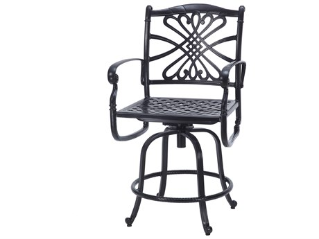 GenSun Bella Vista Cast Aluminum Cushion Swivel Balcony Stool