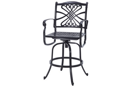 Gensun Bella Vista Cast Aluminum Cushion Swivel Bar Stool