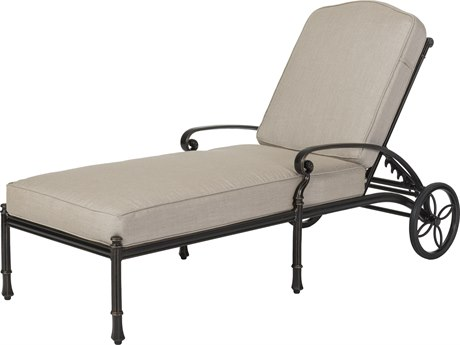 Gensun Bella Vista Cast Aluminum Cushion Chaise Lounge