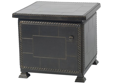 Gensun Paradise Storage Aluminum 24 Square Storage End Table