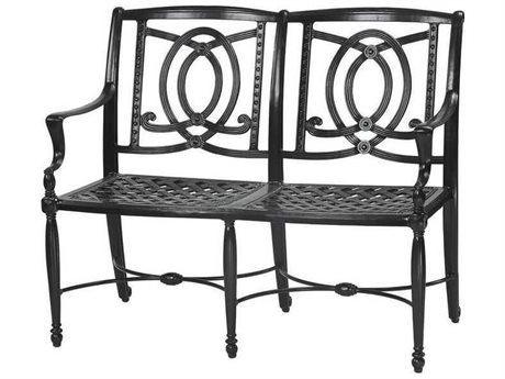 Gensun Bel Air Cast Aluminum Cushion Bench GES10990002
