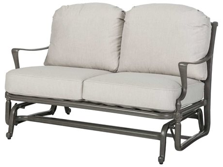 GenSun Bel Air Cast Aluminum Cushion Loveseat Glider