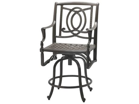 Gensun Bel Air Cast Aluminum Cushion Swivel Balcony Stool