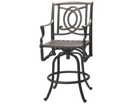 Gensun Bel Air Cast Aluminum Cushion Swivel Bar Stool