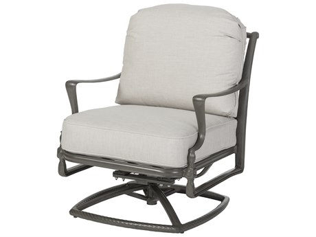 Gensun Bel Air Cast Aluminum Cushion Swivel Rocking Lounge Chair