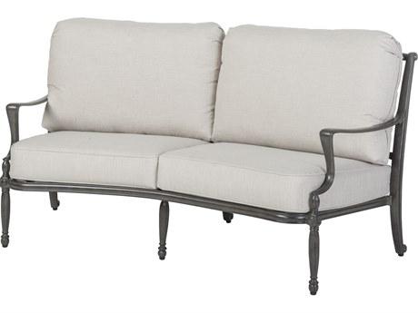 Gensun Bel Air Cast Aluminum Cushion Curved Loveseat