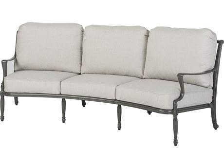 GenSun Bel Air Cast Aluminum Cushion Curved Sofa
