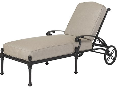 GenSun Florence Cast Aluminum Cushion Chaise Lounge