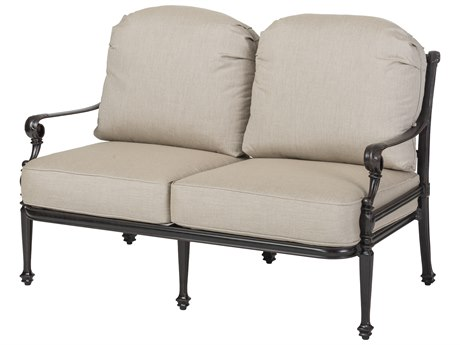 GenSun Grand Terrace Cast Aluminum Cushion Loveseat