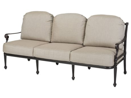 Gensun Grand Terrace Cast Aluminum Cushion Sofa