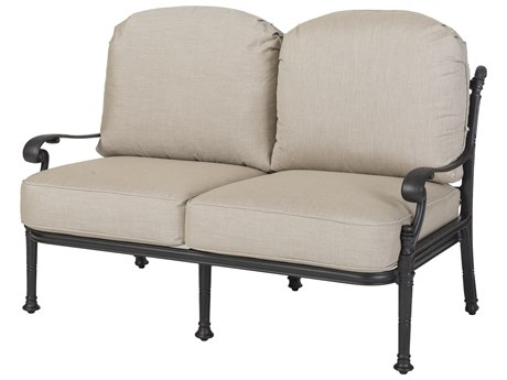 GenSun Florence Cast Aluminum Cushion Loveseat