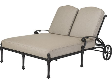 GenSun Florence Cast Aluminum Cushion Double Chaise Lounge