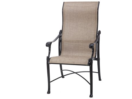 GenSun Michigan Sling Cast Aluminum High Back Dining Chair
